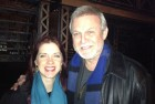 "In Los Angeles with voice teacher, Mr. Ron Raines on his set of ""Follies"""