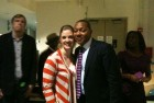 With Wynton Marsalis backstage at Jazz at Lincoln Center